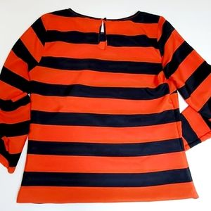 J. CREW Red Navy Stripe Blouse